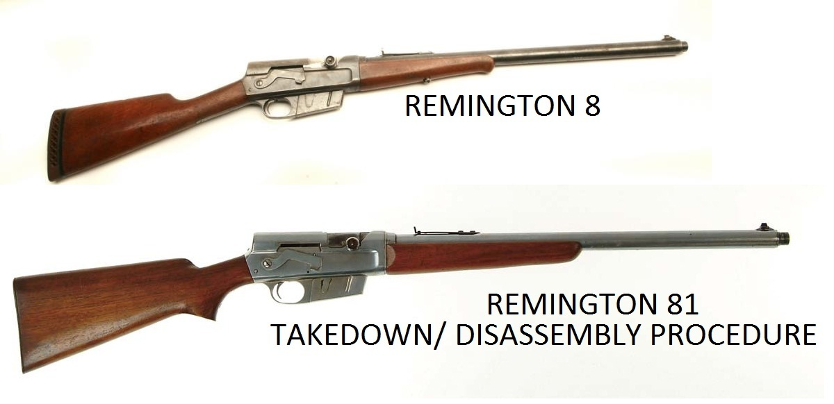 Remington 81 Rifle Service Manuals, Cleaning, Repair Manuals