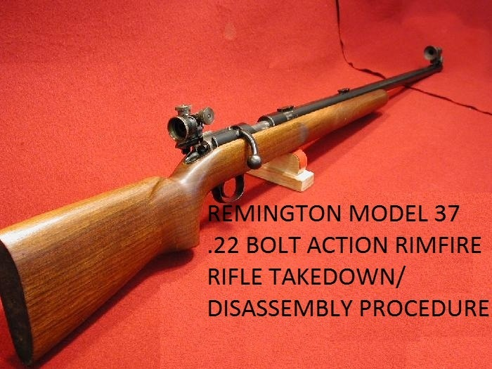 Remington 37 Rifle Service Manuals, Cleaning, Repair Manuals