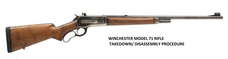 Winchester 71 Rifle Service Manuals, Cleaning, Repair Manuals - Click Image to Close